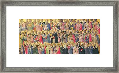 The Forerunners Of Christ With Saints And Martyrs Framed Print by Fra Angelico