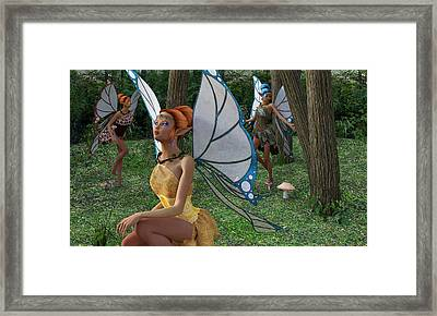 The Forest Never Tells Framed Print by Betsy C Knapp