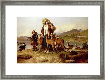 The Forester's Family Framed Print by Sir Edwin Landseer