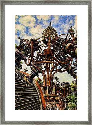 The Forevertron Awaits Dr Evermore's Return Framed Print by Nick Roberts