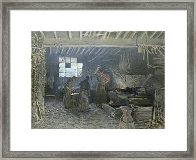 The Forge Framed Print by Alfred Sisley
