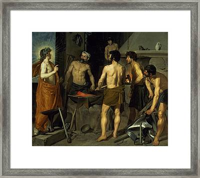 The Forge Of Vulcan Framed Print by Diego Velazquez