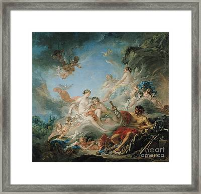 The Forge Of Vulcan Framed Print by Francois Boucher