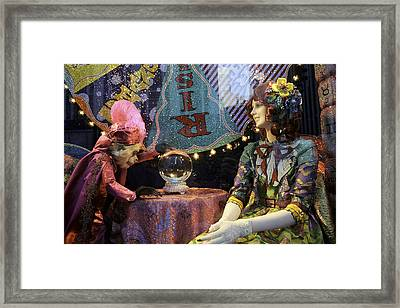 The Fortune Teller And The Redhead Framed Print by Madeline Ellis
