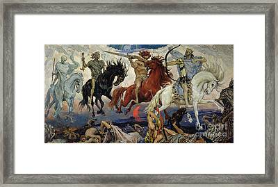 The Four Horsemen Of The Apocalypse Framed Print by Victor Mikhailovich Vasnetsov