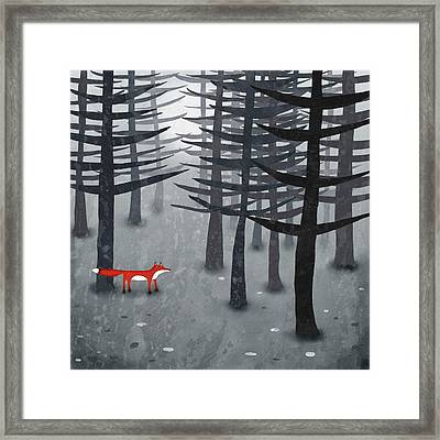 The Fox And The Forest Framed Print by Nic Squirrell