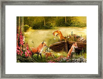 The Foxgloves Framed Print by Trudi Simmonds