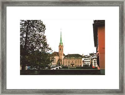 The Fraumunster Abbey In Zurich Switzerland Framed Print by Susanne Van Hulst