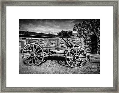 The Freight Wagon Framed Print by Robert Bales