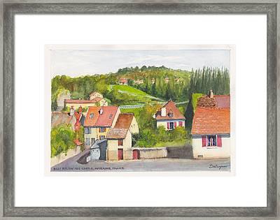 The French Village Of Billy In The Auvergne Framed Print by Dai Wynn