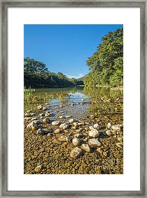 The Frio River In Texas Framed Print by Andre Babiak