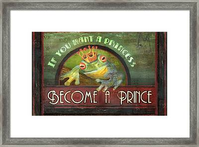 The Frog Prince Framed Print by Joel Payne