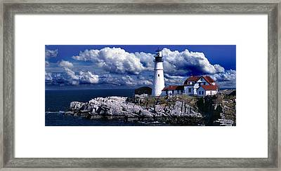 The Front At Portland Head Framed Print by Skip Willits