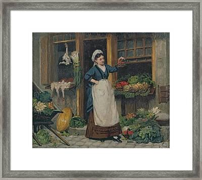 The Fruit Seller Framed Print by Victor Gabriel Gilbert