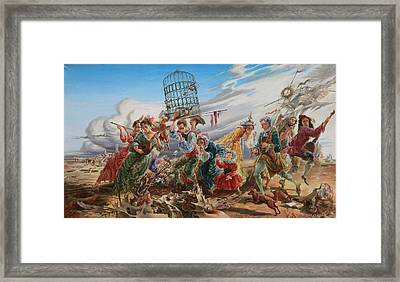 The Funeral Of Bird. From Triptych Procession Framed Print by Maya Gusarina