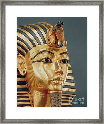 The Funerary Mask Of Tutankhamun Framed Print by Unknown