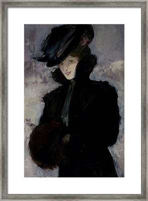 The Fur Coat Framed Print by Bessie MacNicol