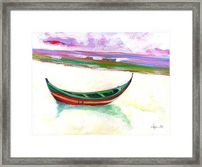 The Future Is A Mystery Framed Print by Angela Treat Lyon