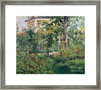 The Garden At Bellevue Framed Print by Edouard Manet