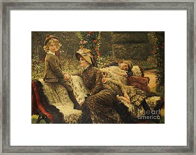 The Garden Bench Framed Print by Tissot