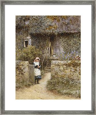The Garden Gate Framed Print by Helen Allingham