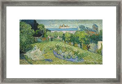 The Garden Of Daubigny Framed Print by Vincent van Gogh