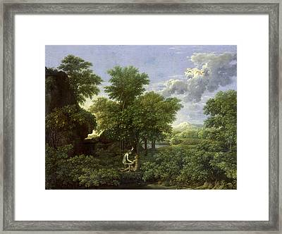 The Garden Of Eden Framed Print by Nicolas Poussin
