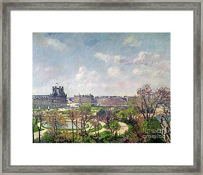 The Garden Of The Tuileries Framed Print by Camille Pissarro