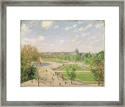 The Garden Of The Tuileries On A Spring Morning Framed Print by Camille Pissarro