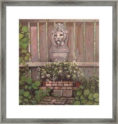 The Garden Wall Framed Print by Victoria  Shea