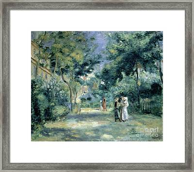 The Gardens In Montmartre Framed Print by Pierre Auguste Renoir