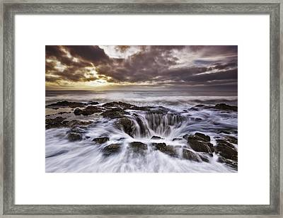 The Gate To The Dungeon Framed Print by Eduard Moldoveanu