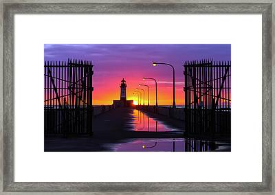 The Gates Of Dawn Framed Print by Mary Amerman