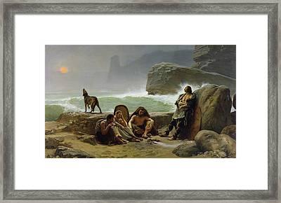 The Gaulish Coastguards Framed Print by Jean Jules Antoine Lecomte du Nouy