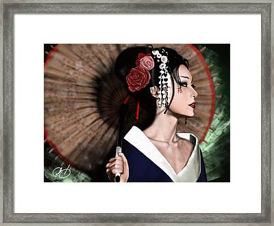 The Geisha Framed Print by Pete Tapang