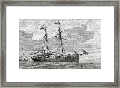 The Germania. Part Of The Convoy Which Framed Print by Vintage Design Pics