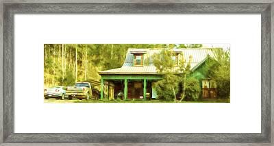 The Getaway - Digital Painting Framed Print by Barry Jones