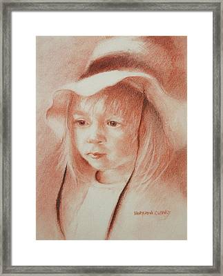 The Girl In The Hat Framed Print by MaryAnn Cleary