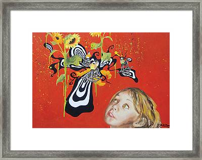 The Girl With Kaleidoscope Eyes Framed Print by Jacqueline DelBrocco