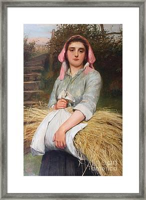The Gleaner Framed Print by Charles Sillem