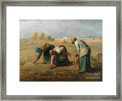 The Gleaners Framed Print by Jean Francois Millet