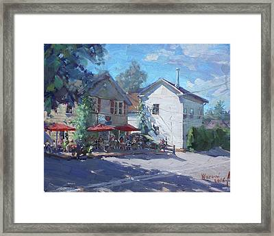 The Glen Oven Cafe Framed Print by Ylli Haruni
