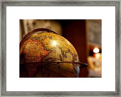 The Globe Framed Print by Edward Myers