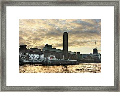 The Globe Theatre London Framed Print by Terri Waters