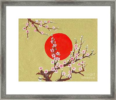 The Glory Morning Sakura Framed Print by Renu Martin