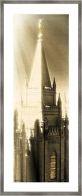 The Glory Of The Lord Shone Round About Framed Print by Greg Collins