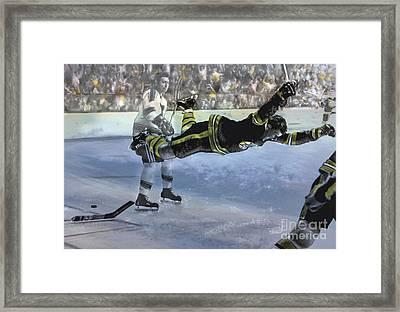 The Goal, Bobby Orr Framed Print by Mark Tonelli