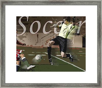 The Goalkeeper Framed Print by Kelley King