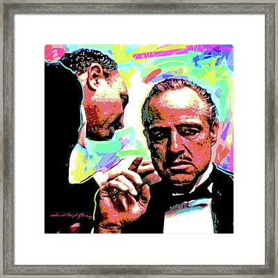 The Godfather - Marlon Brando Framed Print by David Lloyd Glover