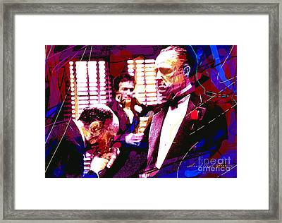 The Godfather Kiss Framed Print by David Lloyd Glover